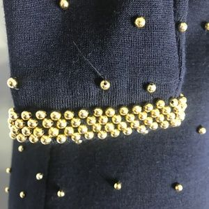 et al Dresses - VTG et al Black Bead Wool Sweater Dress A200814
